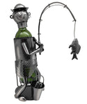 "16"" Fisherman Wine Bottle Holder"