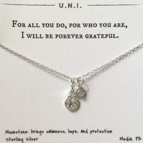 For All You Do, For Who You Are, I Will Be Forever Grateful Necklace