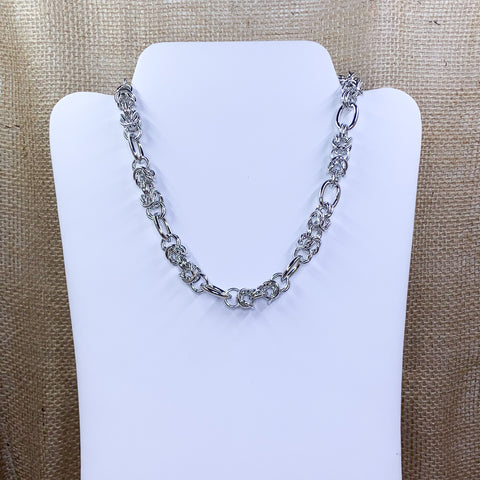 Silver-Tone Heavy Link Fashion Necklace