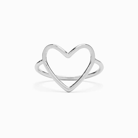 Big Heart Band Ring