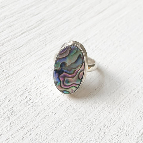 Sterling Silver Abalone Ring