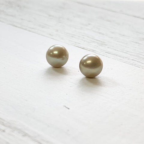 Sterling Silver August Pearl Earring