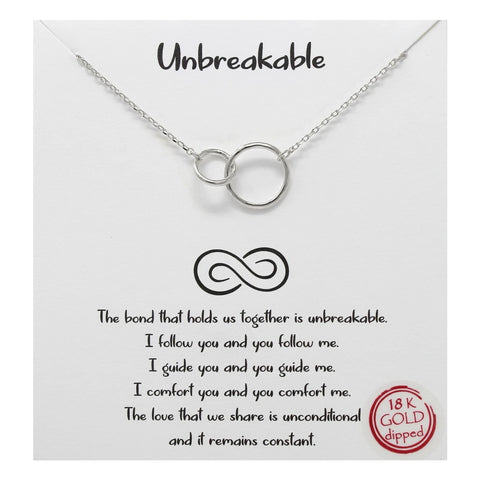 Tell Your Story: Unbreakable Linked Hoop Simple Chain Necklace