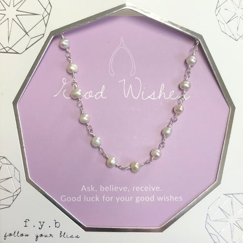Good Wishes Silver Pearl Choker