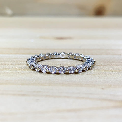 Sterling Silver All Around CZ Ring