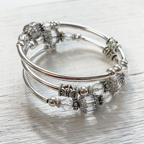 April Crystal Wrap Bracelet