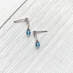 Sterling Silver March Dangle Earring
