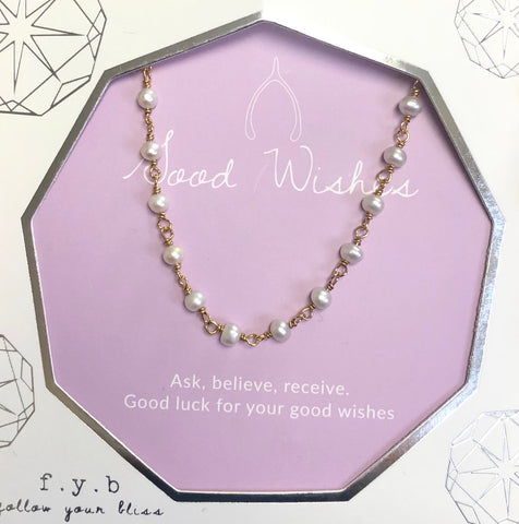 Good Wishes Gold Pearl Choker