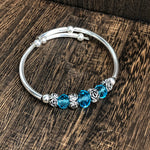 Fashion Blue Bead Wrap Bracelet