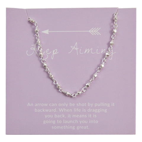 Keep Aiming Silver Choker