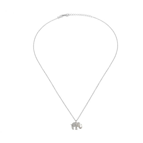 Lucky Elephant , Sterling Silver Necklace