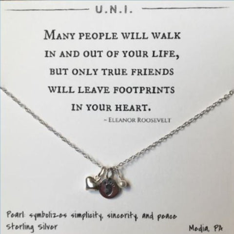 Many People Will Walk In And Out Of Your Life, But Only True Friends Will Leave Footprints In Your Heart Necklace
