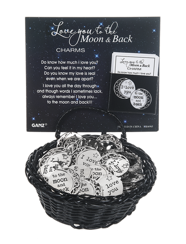 Love You to the Moon and Back Pocket Charm