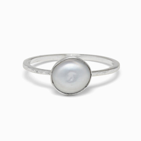 Sterling Silver Pretty in Pearl Ring