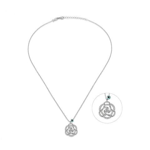 Rosa Rose Sterling Silver Necklace