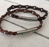 Satellite Leather Bracelet