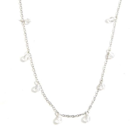 Serena Shaker Clear Quartz Sterling Silver Necklace