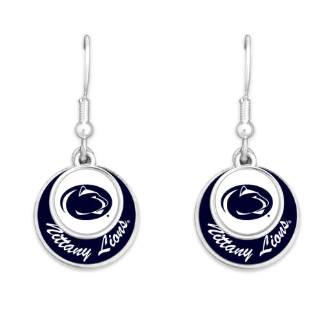 Penn State Stacked Disk Earrings