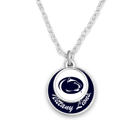 Penn State Stacked Disk Necklace