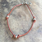 Trinity Leather Anklet