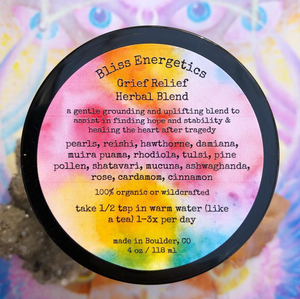 Grief Relief- Herbal Blend for Sadness, Fear, & Shock