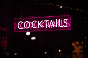 Cocktails Sign Know Your BAC