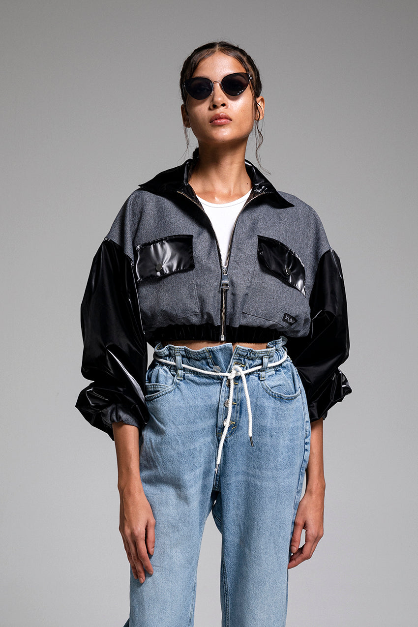 Chronon, a crop bomber jacket