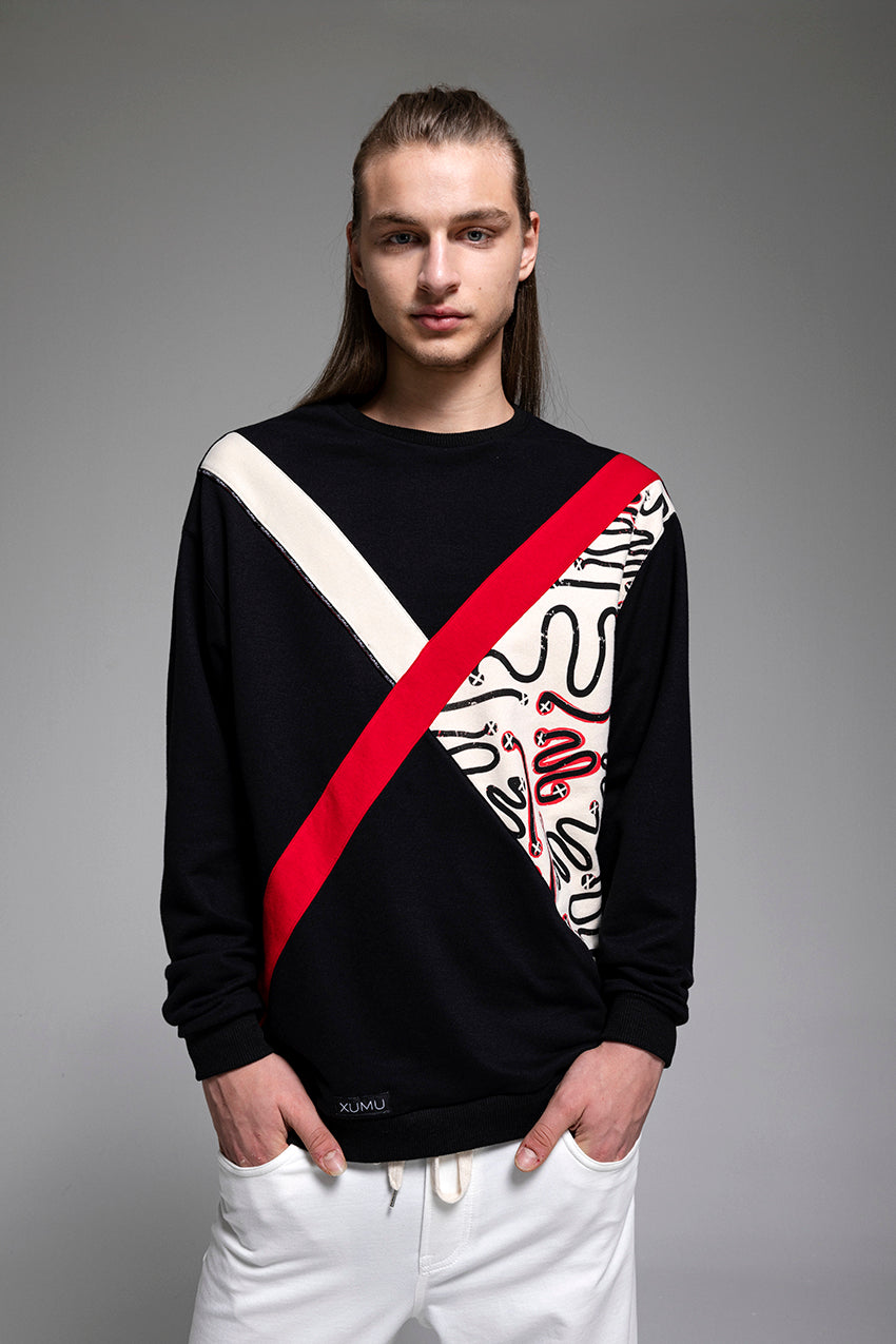 Contingent, a X marked sweatshirt with partial sketches