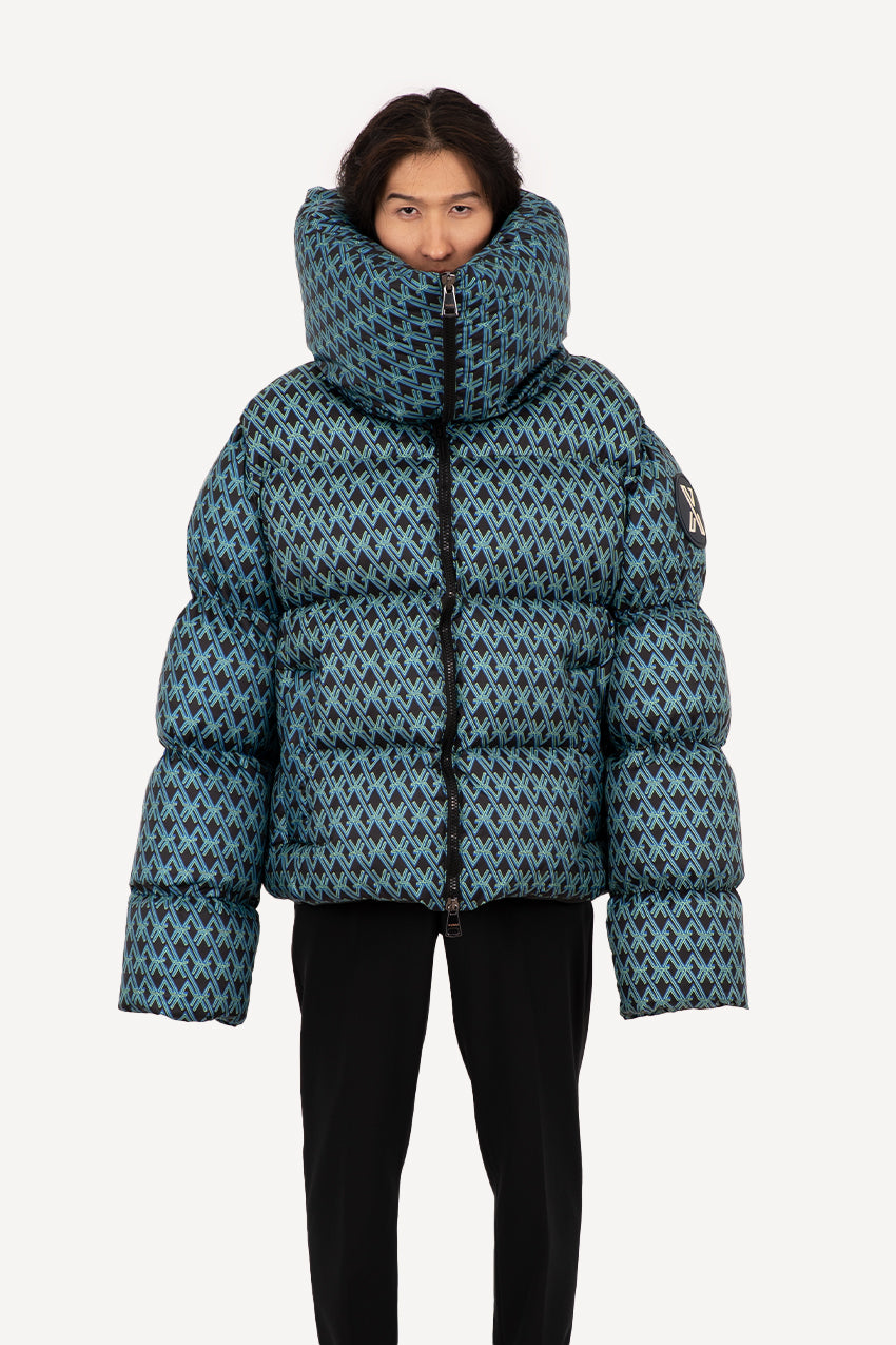 Special monogrammed giant puffer coat