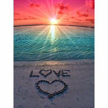 Load image into Gallery viewer, Sunset Beach Love 5D Diamond Painting