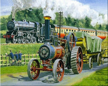 Load image into Gallery viewer, Steam Trains 5D Diamond Painting