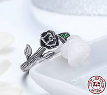 Load image into Gallery viewer, Sterling Silver Vintage Rose Adjustable Ring