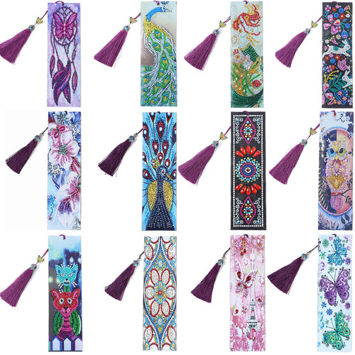 Leather 5D Diamond Painting Bookmarks