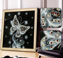 Load image into Gallery viewer, Butterfly 5D Diamond Painting with Special Shaped Rhinestones