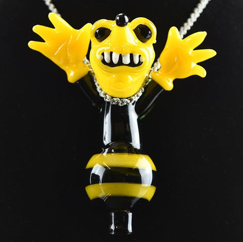 Ethereal Bumble Bee Carb Cap / Pendant