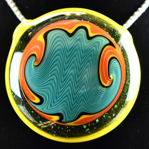 Glass By Who Crushed Opal Lemon Drop Pendant