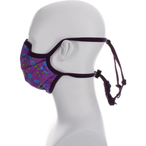 purple floral covid mask