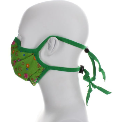 Image of green floral face mask