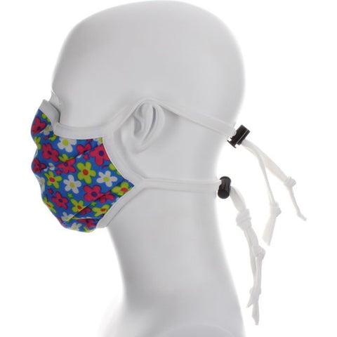pink floral mask covid