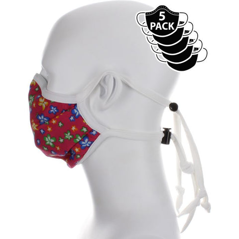 red floral covid mask