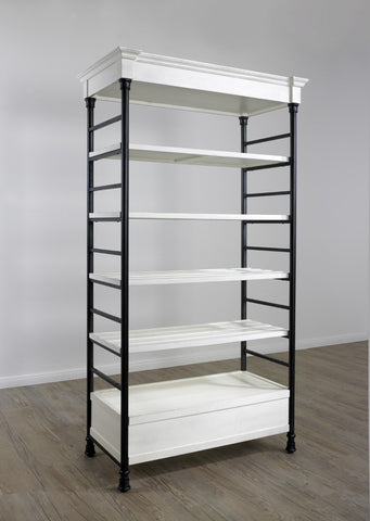 Single Wide Etagere - Distressed White