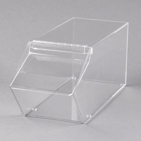 Image of stackable clear bin cal mil