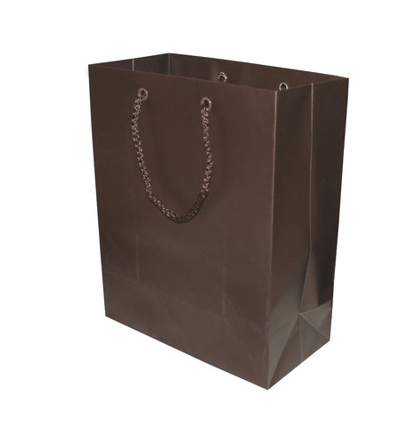 Image of Matte brown bags