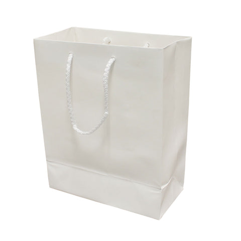 Image of Matte white holiday bag