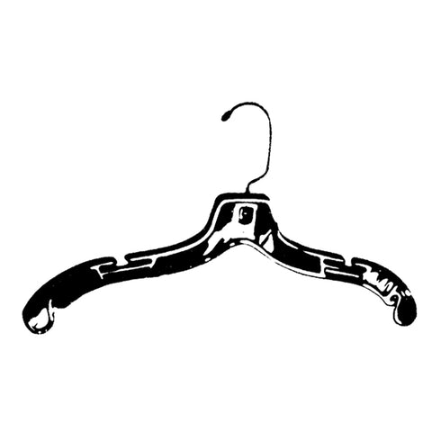 "Image of 17""  Dress & Blouse Hanger - clear or black or white"