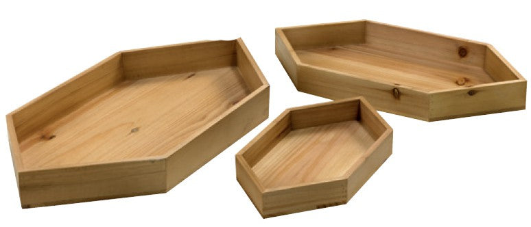Set of 3 Hexagon Trays