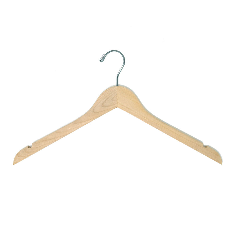 wooden top hanger natural sanded finish cheap hangers
