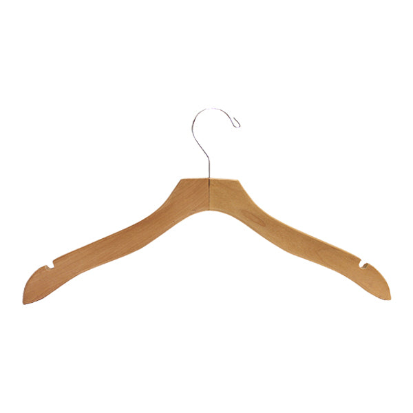 "17"" Deluxe - Wood Dress & Top Hanger - Multiple Colors & Sizes"