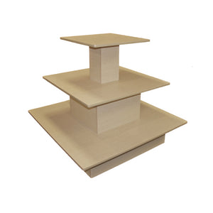 3 Tier Square Waterfall Table