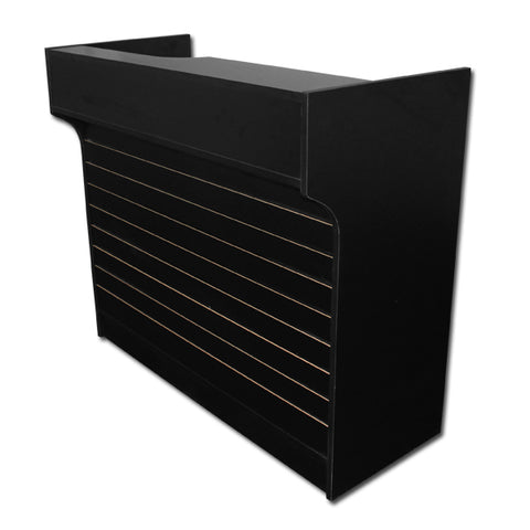 Image of 4' Ledgetop Counter with Slatwall Front